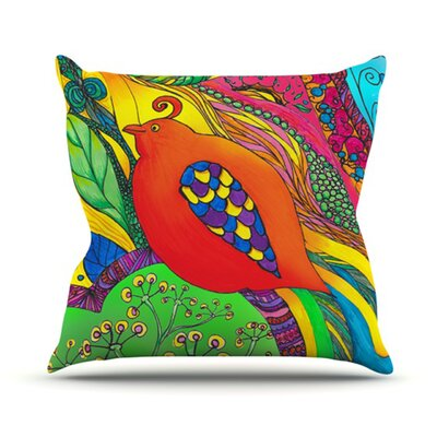 KESS InHouse Psycho-Delic Dan Throw Pillow