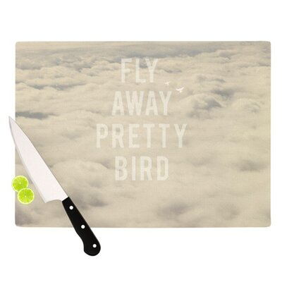 KESS InHouse Fly Away Pretty Bird Cutting Board