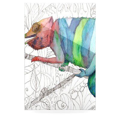 KESS InHouse Chameleon Fail by Catherine Holcombe Graphic Art Plaque