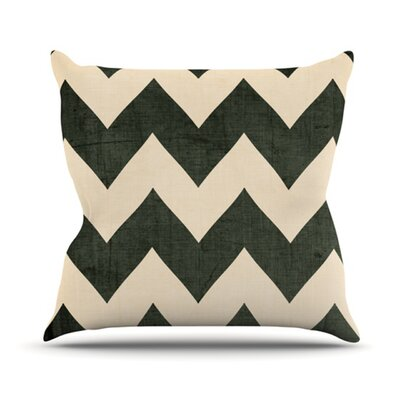 KESS InHouse Vintage Vinyl Throw Pillow