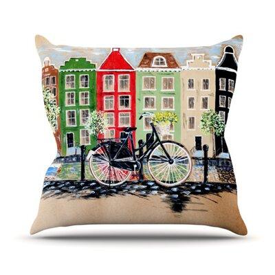 KESS InHouse Bicycle Throw Pillow