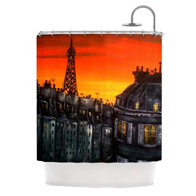 KESS InHouse Paris Polyester Shower Curtain