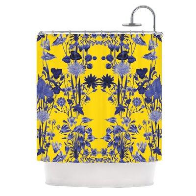 KESS InHouse Bloom Flower Polyester Shower Curtain