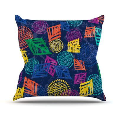 KESS InHouse African Beat Throw Pillow