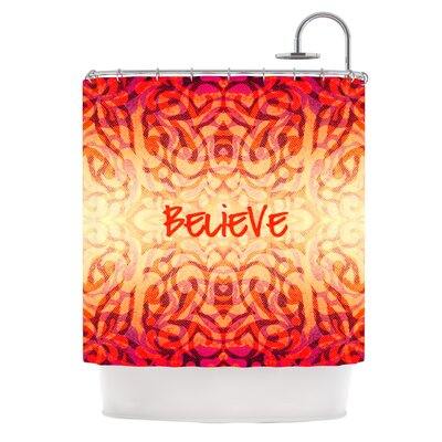 KESS InHouse Tattooed Believer Polyester Shower Curtain