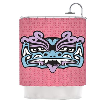 KESS InHouse Fu Dog Polyester Shower Curtain