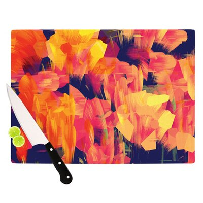KESS InHouse Geo Flower Cutting Board