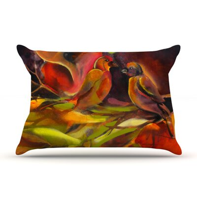 KESS InHouse Mirrored in Nature Fleece Pillow Case