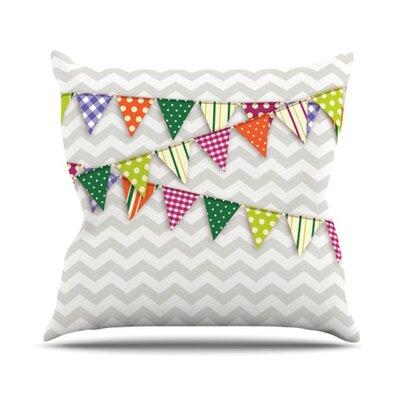 KESS InHouse Flags 1 Throw Pillow