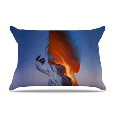 KESS InHouse Volcano Girl Fleece Pillow Case