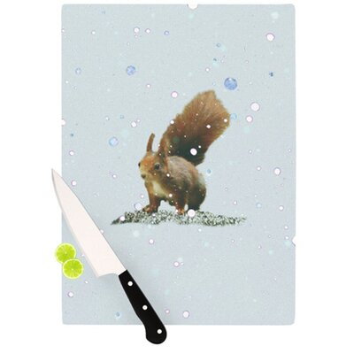 KESS InHouse Squirrel Cutting Board