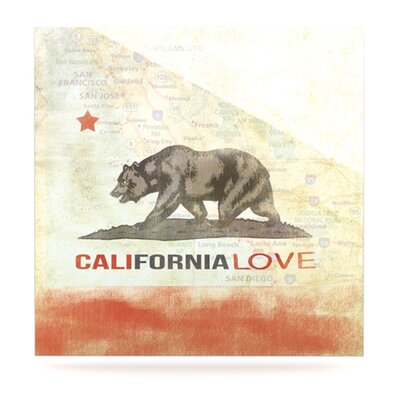 KESS InHouse Cali Love Floating Art Panel