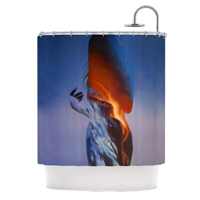 KESS InHouse Volcano Girl Polyester Shower Curtain