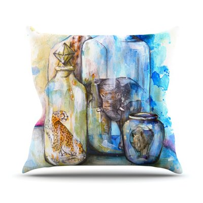 Bottled Animals Throw Pillow