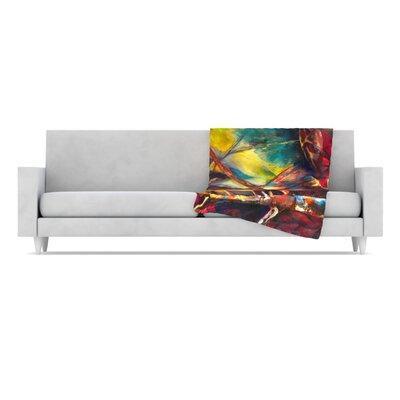 KESS InHouse Growth Fleece Throw Blanket