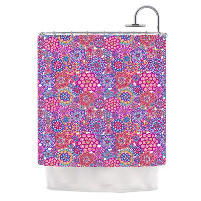 My Happy Flowers Polyester Shower Curtain