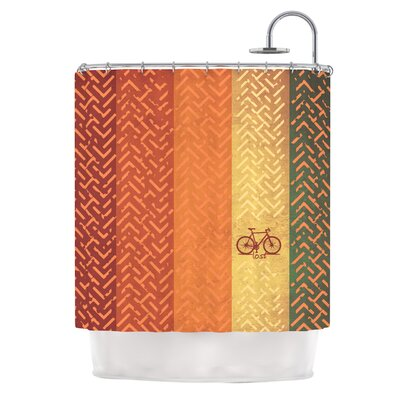 KESS InHouse Lost Polyester Shower Curtain
