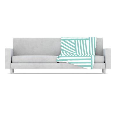 KESS InHouse Stripes Fleece Throw Blanket