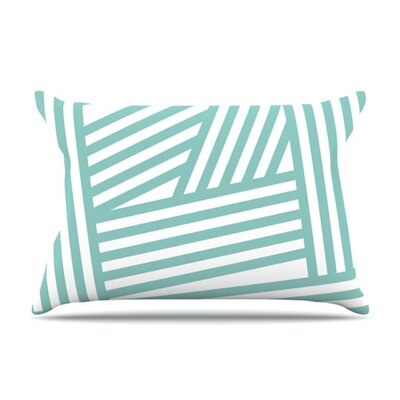 KESS InHouse Stripes Fleece Pillow Case