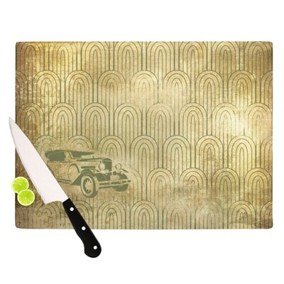 KESS InHouse Deco Car Cutting Board