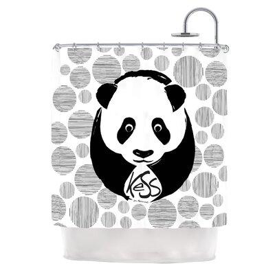KESS InHouse Panda Polyester Shower Curtain