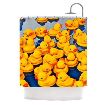 KESS InHouse Duckies Polyester Shower Curtain