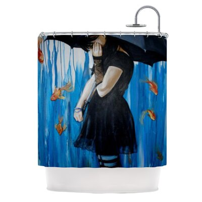 KESS InHouse Sink or Swim Polyester Shower Curtain