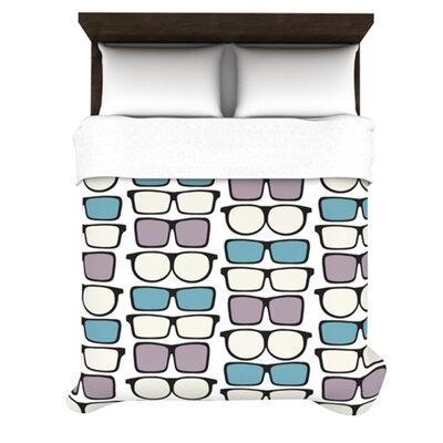 KESS InHouse Spectacles Geek Chic Duvet Cover Collection