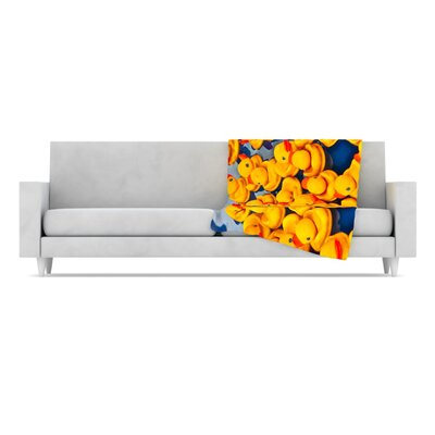 KESS InHouse Duckies Fleece Throw Blanket