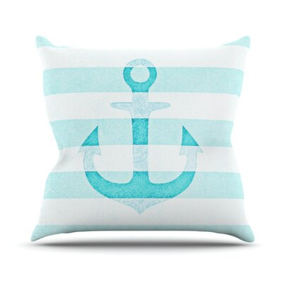 Stone Vintage Anchor Throw Pillow