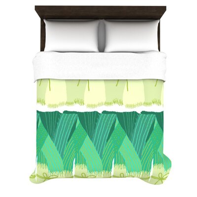 KESS InHouse Leeks Duvet Cover Collection