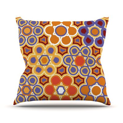 KESS InHouse Flower Garden Throw Pillow