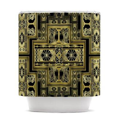 KESS InHouse Golden Art Deco Polyester Shower Curtain