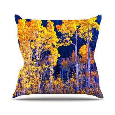 KESS InHouse Trees Throw Pillow