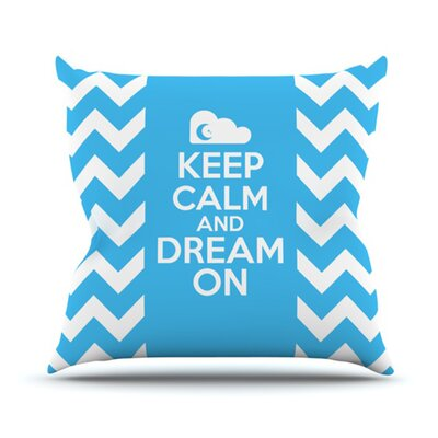 KESS InHouse Keep Calm Throw Pillow