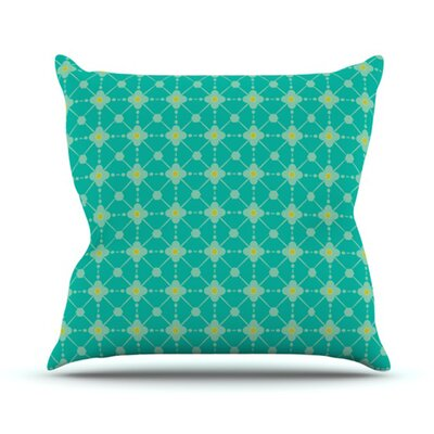 KESS InHouse Hive Blooms Throw Pillow