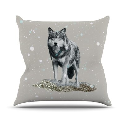 KESS InHouse Wolf Throw Pillow