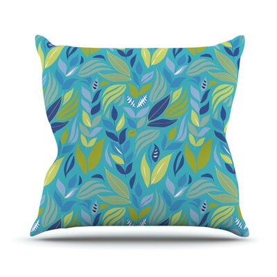 KESS InHouse Underwater Bouquet Throw Pillow