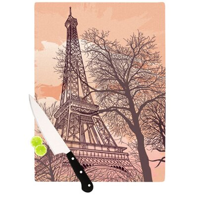 KESS InHouse Eiffel Tower Cutting Board