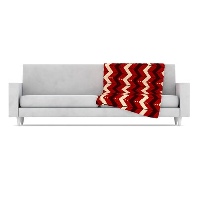 KESS InHouse Chevron Dance Fleece Throw Blanket