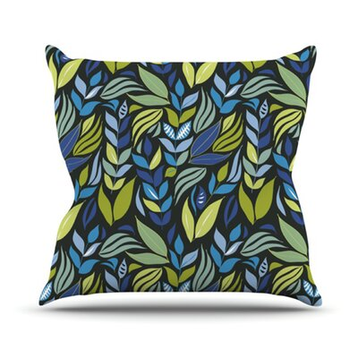 KESS InHouse Underwater Bouquet Night Throw Pillow