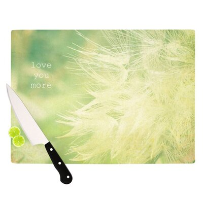 KESS InHouse Love You More Cutting Board