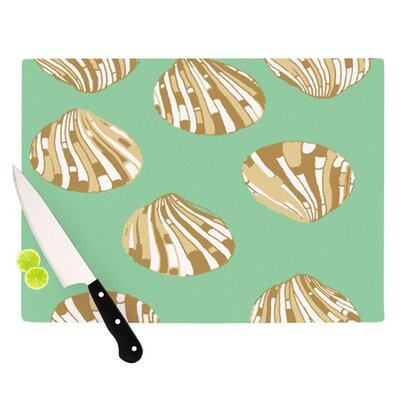KESS InHouse Scallop Shells Cutting Board