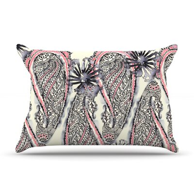 KESS InHouse Inky Paisley Bloom Pillow Case