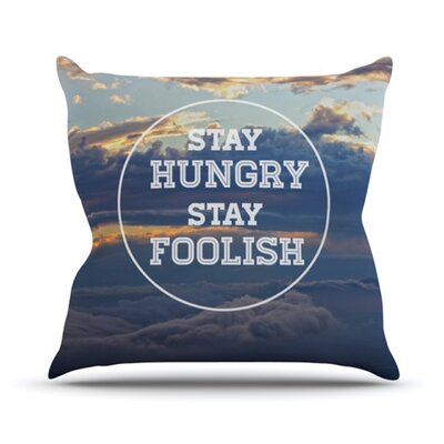 KESS InHouse Stay Hungry Throw Pillow