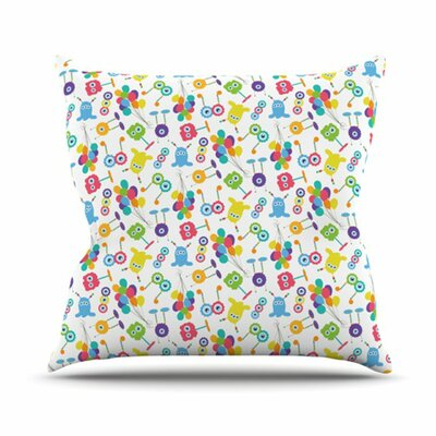 KESS InHouse Fun Creatures Throw Pillow