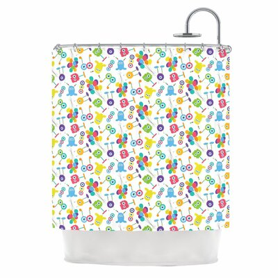 Fun Creatures Polyester Shower Curtain