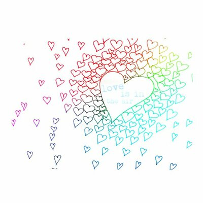 KESS InHouse Rainbow Hearts Placemat