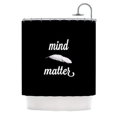 KESS InHouse Mind Over Matter Polyester Shower Curtain