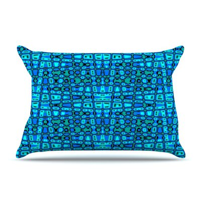 KESS InHouse Variblue Fleece Pillow Case